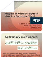 Progress of Women's Rights in Islam in a Brave New World