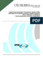 ETSI TS 102 250-2 - 2011