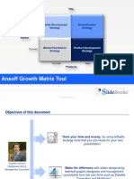 Ansoff growth matrix templates