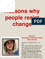 Reasons Why People Resist Change.ppt