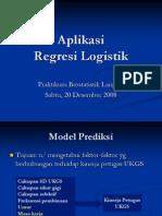 Aplikasi Regresi Logistik-Uji t