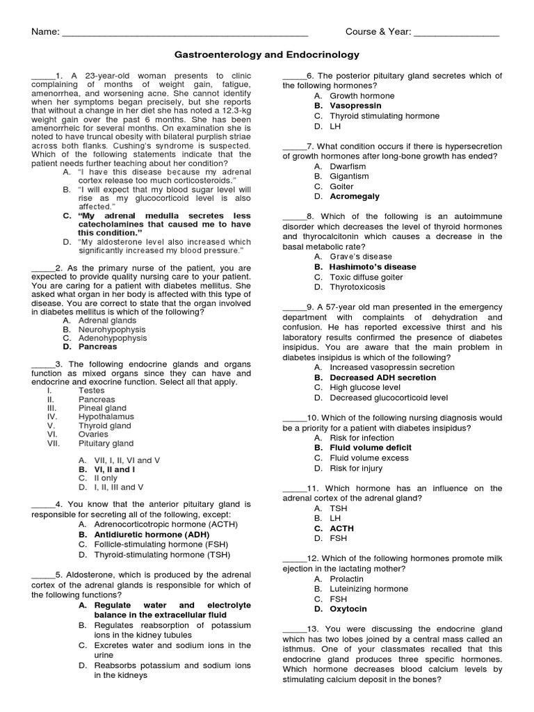 Gastro Endo Exam   Adrenal Gland   Gastrointestinal Tract