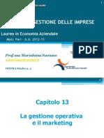 13. La Gestione Operativa e Il Marketing