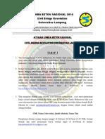 Peraturan Lomba Beton 2014 Universitas Lampung