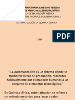 automatización en labnoratorio clinico