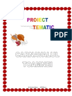 Proiect Tematic Carnavalul..Toamnei