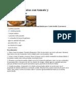 Tortilla de Patatas Con Tomate y Pimiento Verde