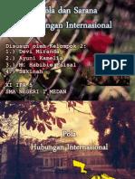 Pola Dan Sarana Hubungan Internasional