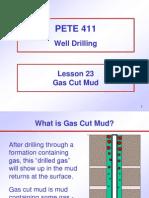 23. Gas Cut Mud