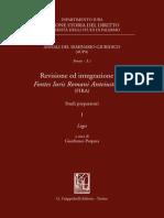 2012 Sulla Presenza Di Decreta Decurionum Nella Pars Tertia, Negotia, Dei Fontes Iuris Romani Antejustiniani