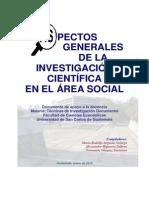 Aspectos Grales de La Investigacion Cientifica en El Area Social
