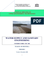 Cec 202 Theory-water Supply and Sanitary