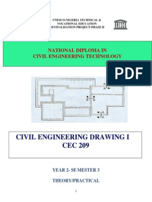 Cec 209- Civil Engineering Drawing i | Technical Drawing