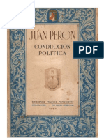 Juan Peron - Conduccion Politica