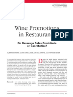 Wine Promotions in Restaurant