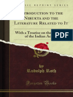 An Introduction to Nirukta and Related Literature