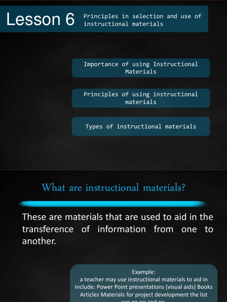 Instructional Materials Graphics Teachers