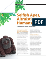 Selfish Apes Altruistic Humans