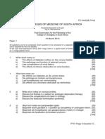 FC Urol(SA) Final Past Papers - 2012 Mar 31-3-2014