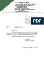 contoh laporan wasiat