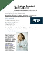 Hipotiroidismul-endocrinologie