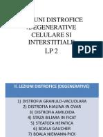 Anatomie Patologica - Leziuni distrofice
