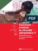 Cmt évaluer la sécurité alimentaire - Croix Rouge