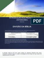 INTRODUÇÃO AOS PROFETAS ANTERIORES - PLANO DE AULA