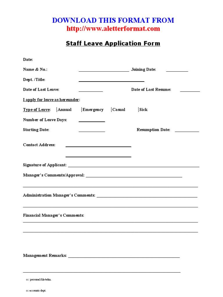 1510900259v 1 – Employee Leave Application Form