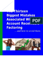 13 Biggest Mistakes Associated with Account Receivable Factoring