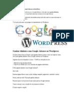 Ganhar Dinheiro Com Google Adsense No WordPress