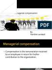 managerial compensation