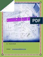 Communication 2 Solution Exam