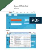 Convert PDF File to Word