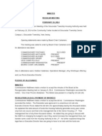 Gloucester Township Housing Authority Meeting Minutes 2-19-14