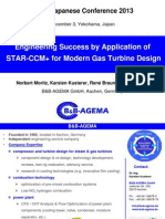Success of STAR-CCM+ Application in the Design Process of Modern Gas Turbine 0