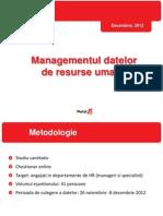 Managementul Datelor de HR Prezentare 12Dec2012