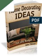 Home Decor Ideas-Any Budget
