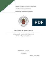 Purificación de ácido cítrico