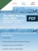HEUG Qatar Presentation CRM Tracey Robey