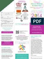 2014 Allyson Whitney 5k Brochure