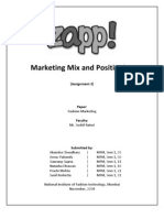 ZAPP - Marketing Mix & Positioning