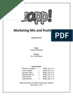 ZAPP - Marketing Mix & Positioning
