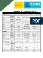 BAFICI Funciones Privadas de Prensa