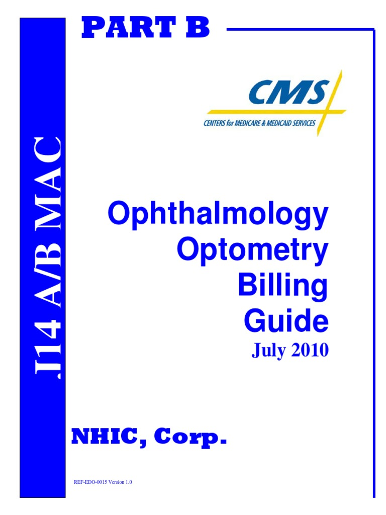 ophthalmology optometry guide optometry glaucoma rh es scribd com medicare ophthalmology billing guide ophthalmology billing guide 2017