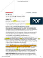 The Top 10 IT Altering Predictions for 2014