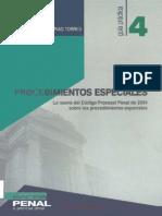 142415506 PROCEDIMIENTOS ESPECIALES Lo Nuevo de Codigo Procesal Penal de 2004 Gaceta Juridica