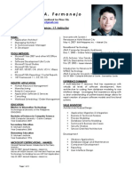 CV of James Fermanejo-CSIT Instructor