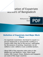 Contribution of Expatriate Workers of Bangladesh