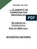 Handbook Regionales de Menores